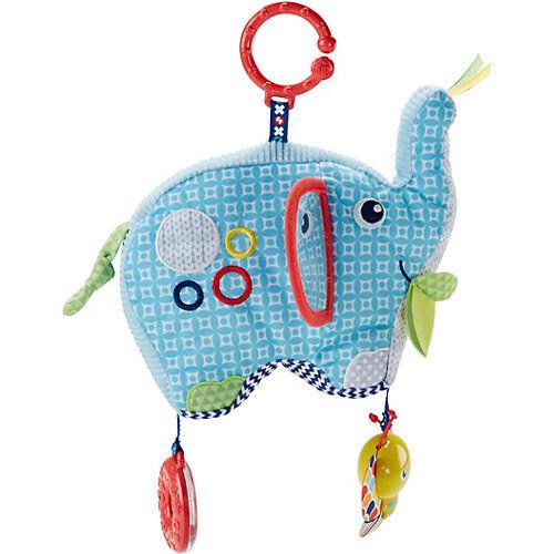 Mattel Fisher-Price Kleiner Spiel-Elefant, Baby-Spielzeug, Kuscheltier-Kette, Plüschtier