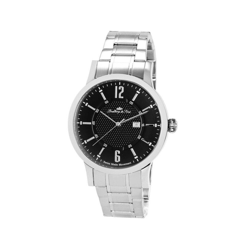 Lindberg & Sons Zeitlos klassische Armbanduhr mit schweizer Uhrwerk