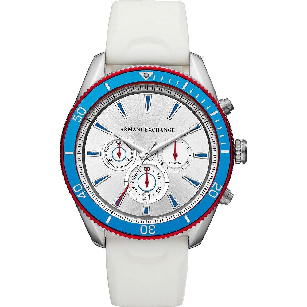 Giorgio Armani Exchange Armani Exchange Herren-Uhren Analog Quarz One Size Silikon 87675815