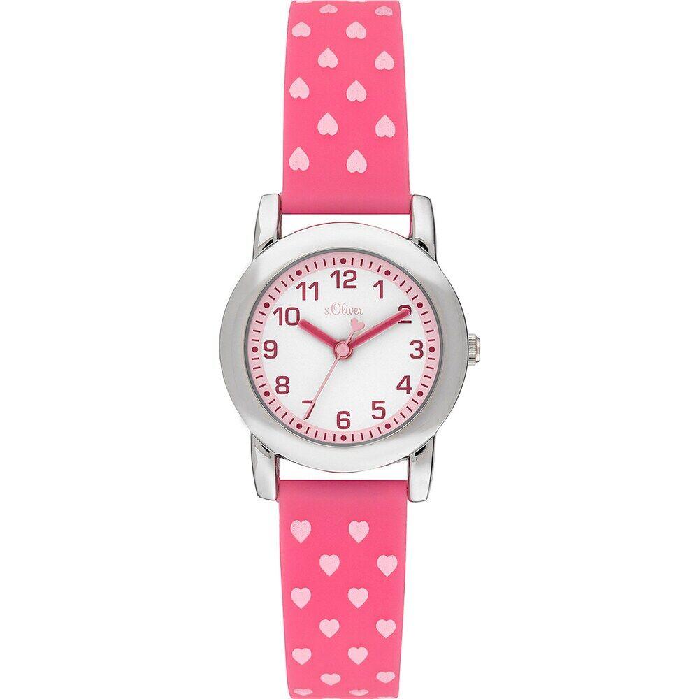 s.Oliver S.Oliver Mädchen-Uhren Analog Quarz One Size Kunststoff 87754847