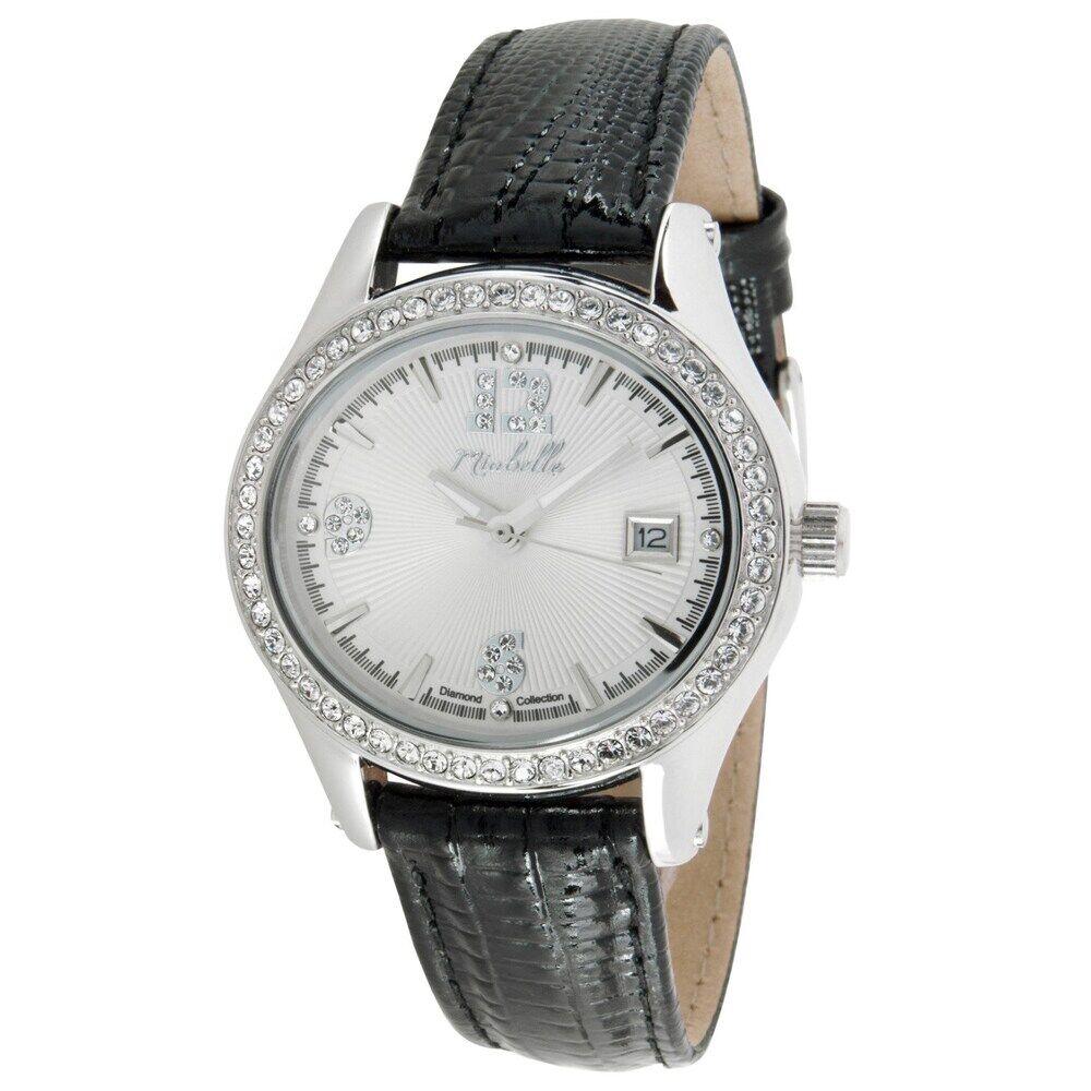 Miabelle Funkelnde Armbanduhr mit vier Diamanten