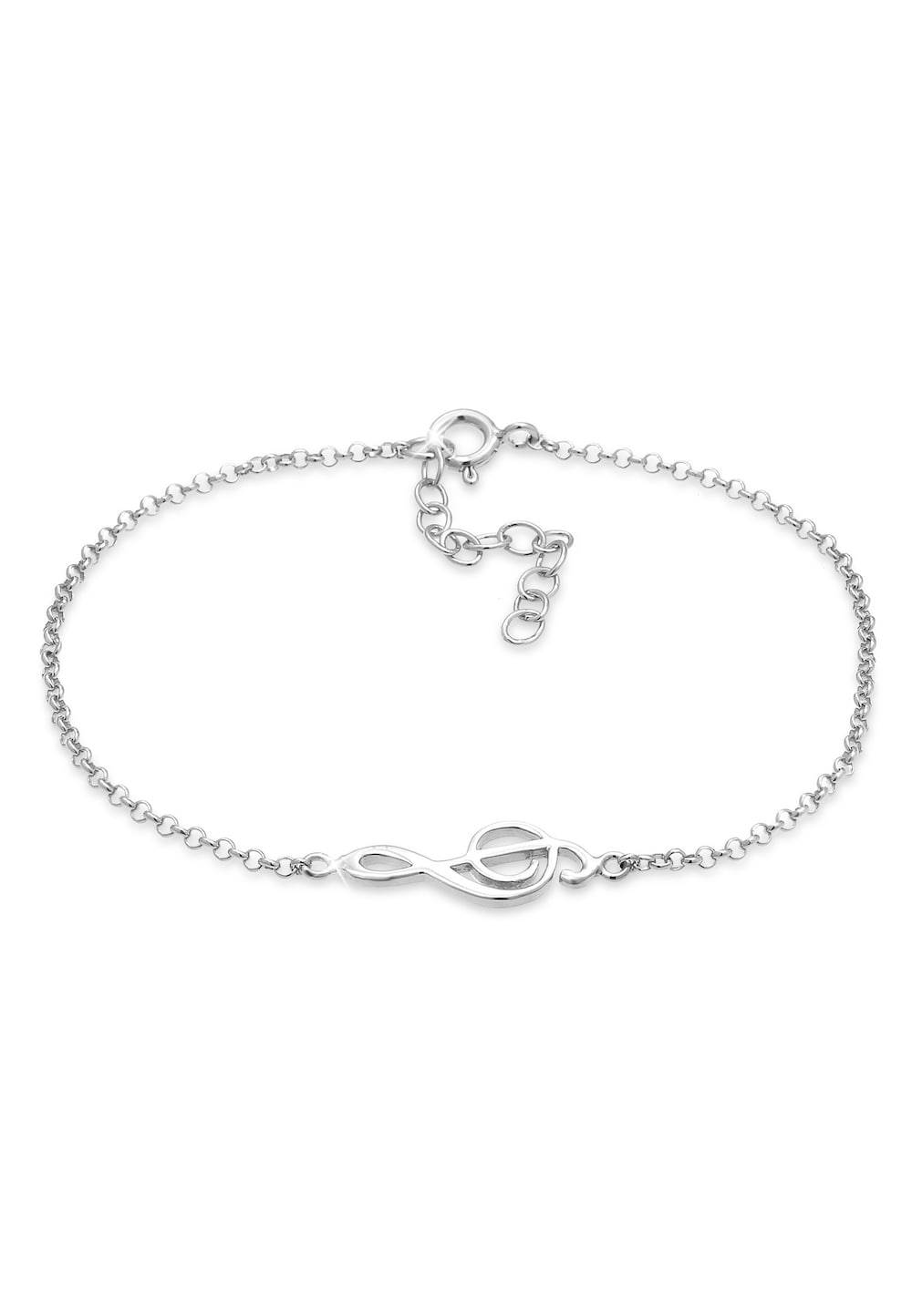 Elli Elli Armband Notenschlüssel Musik Note Trend 925 Silber