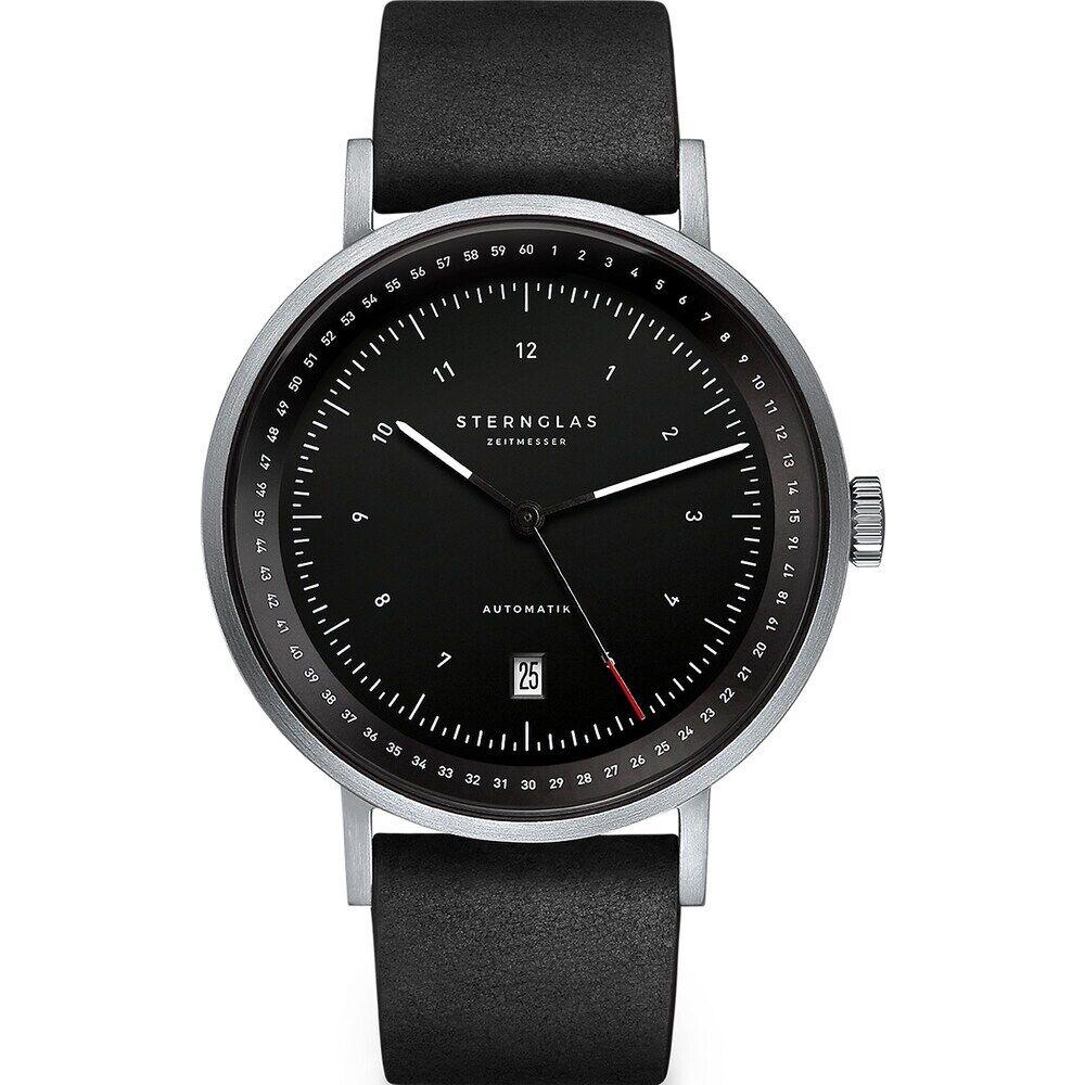 STERNGLAS Sternglas Herren-Uhren Analog Automatik Grün Grün Leder 32012080