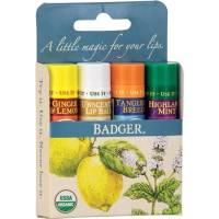 badger lip balm set - blue classic 4x4.2g