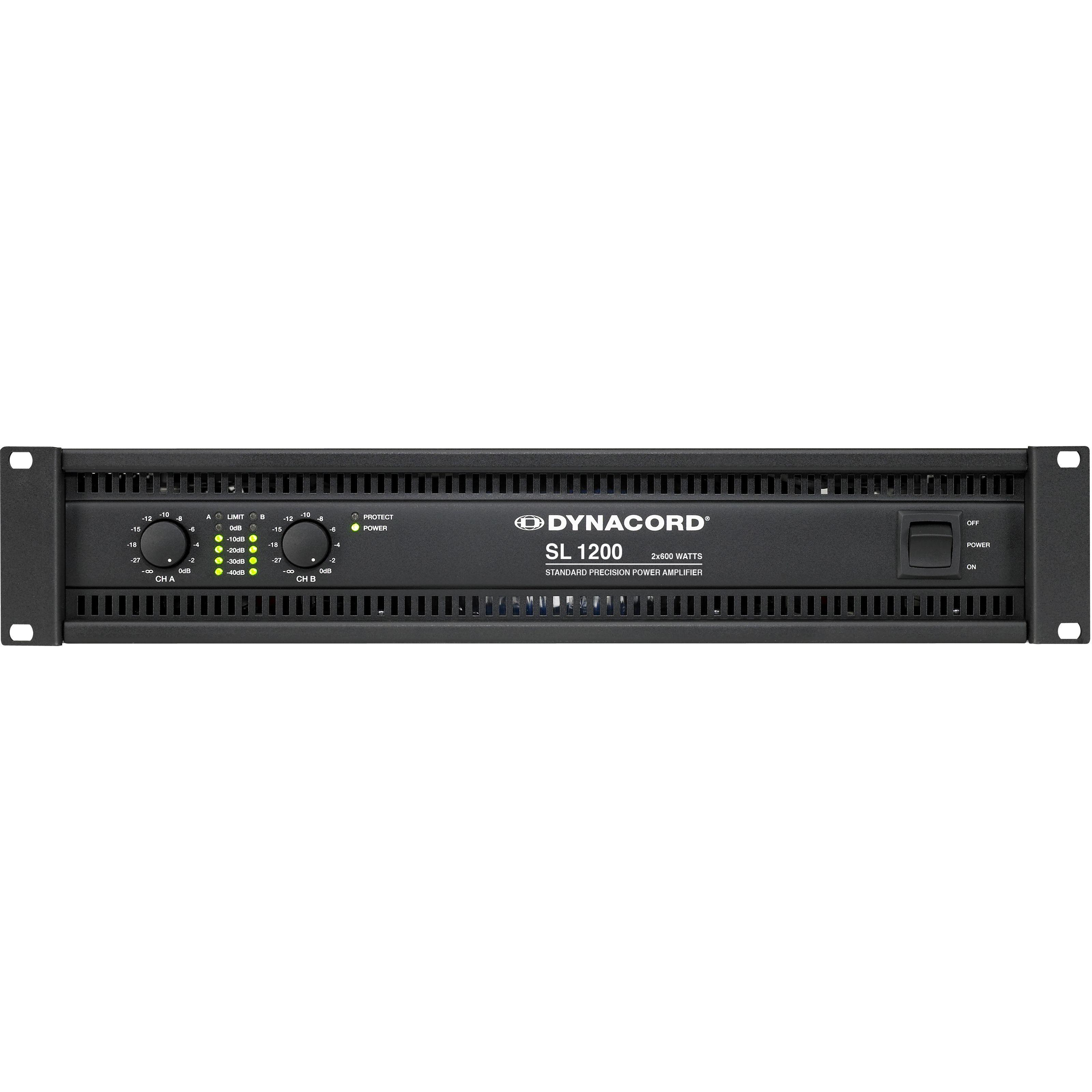 Dynacord - SL1200 2 x 600 Watt / 4 Ohm