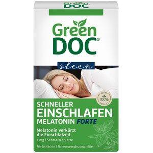 GreenDoc Gesundheit Schlaf & Entspannung Schneller Einschlafen Melatonin Forte 20 Stk.