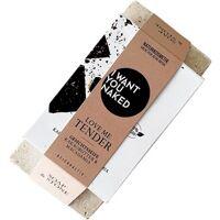 i want you naked pflege körperpflege geschenkset seifenablage + kakaobutter & macadamia-Öl reichhaltige gesichtsseife 100 g 1 stk.
