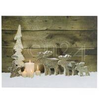 kaemingk kunstdruck bild advent mit elch als weihnachtsdeko