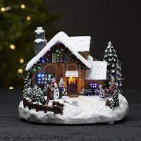 best season modellbau haus und winterszene mit led beleuchtung