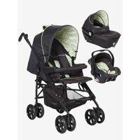 vertbaudet kinderwagen/babyschale/babywanne grün dreiecke von vertbaudet