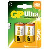 GP Batteries C/LR14- Ultra Alkaline Batteri 2 stk.