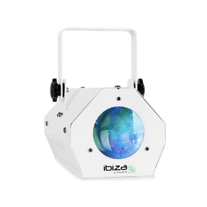 Ibiza LCM003LED Foco Moonflower RGBWA Control de música