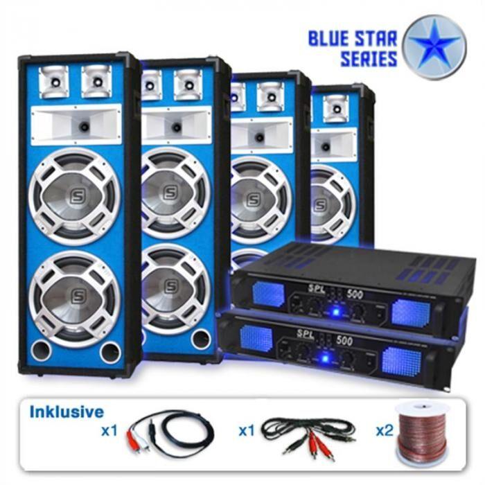 Electronic-Star Serie Blue Star Bassveteran Quadro Equipo de sonido profesional 3200W