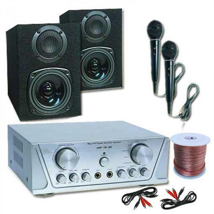 Electronic-Star HiFi HVA 200 + MC 130 + 2 Micrófonos – Karaoke 1