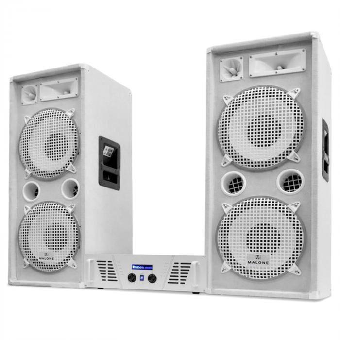 "Electronic-Star White Star Series ""Arctic Ice"" Set de sonido profesional 2000W"