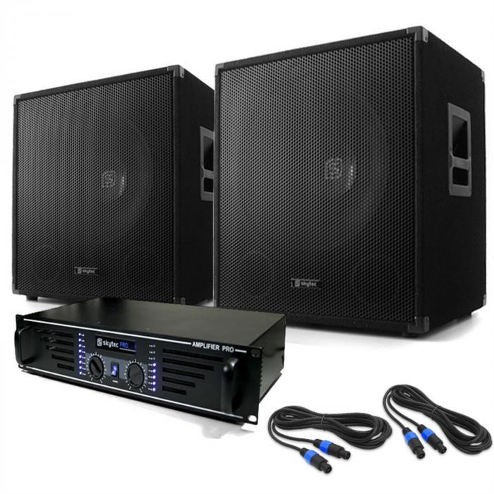 "Electronic-Star Equipo DJ PA ""Lewis 1200 Bass Tornado""38cm 1200W"