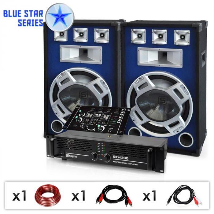 "Electronic-Star Equipo PA DJ ""Bassmix"" de la serie Blue Star - 1600W"