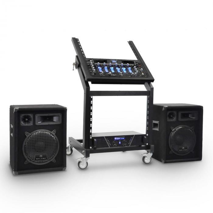 Electronic-Star 'Mercury Beat' Amplificador Altavoces DJ PARack