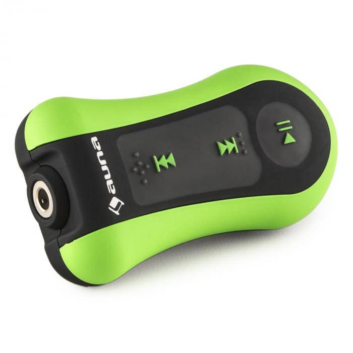 auna hydro 8 reproductor mp3 verde gb ipx