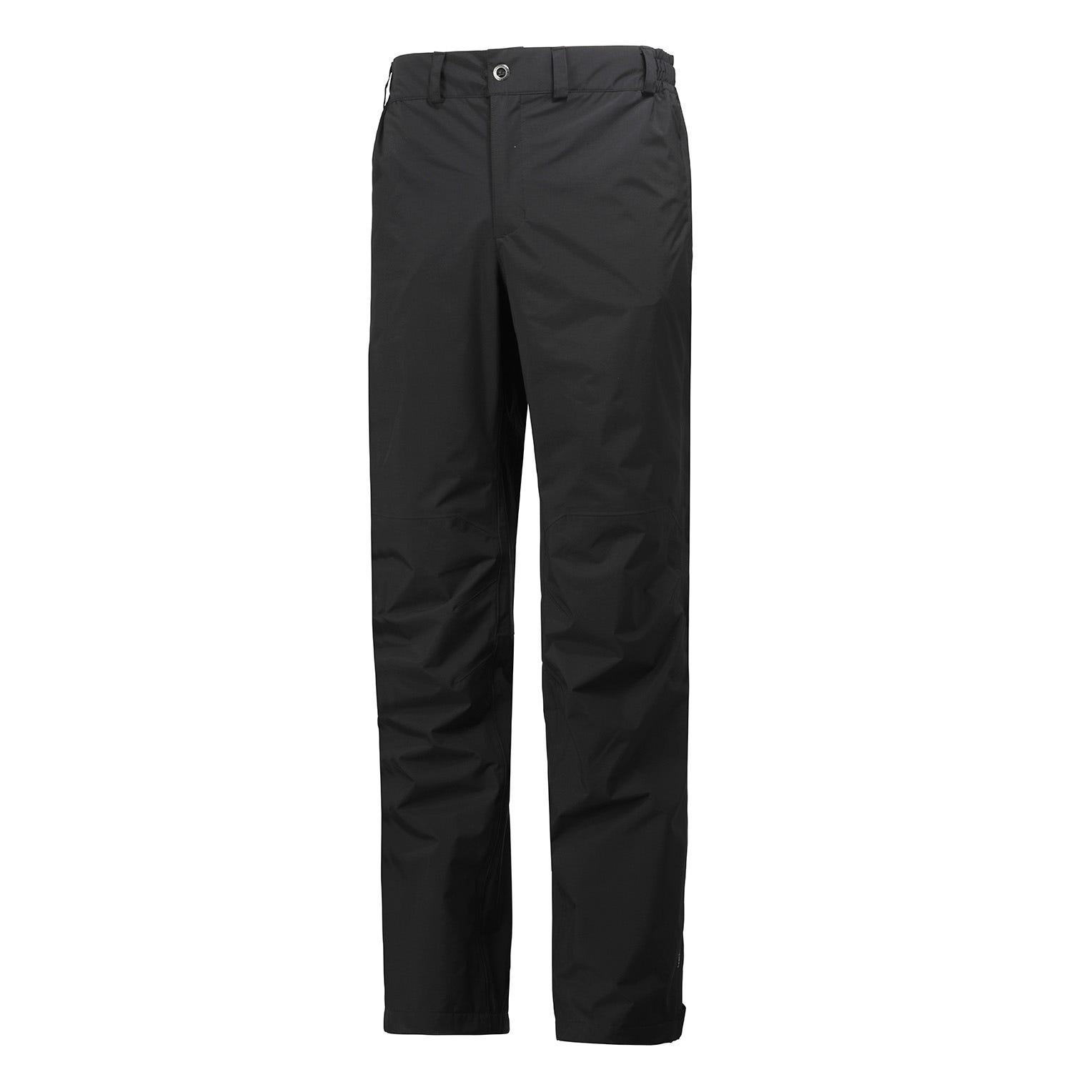Helly Hansen hombres empaquetable pantalon de agua Negro S