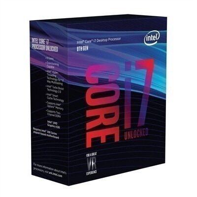 Intel Procesador  i7 8700K, Socket 1151, 3.70GHz, 6-Core, 12 MB Smart Cache OPTANE