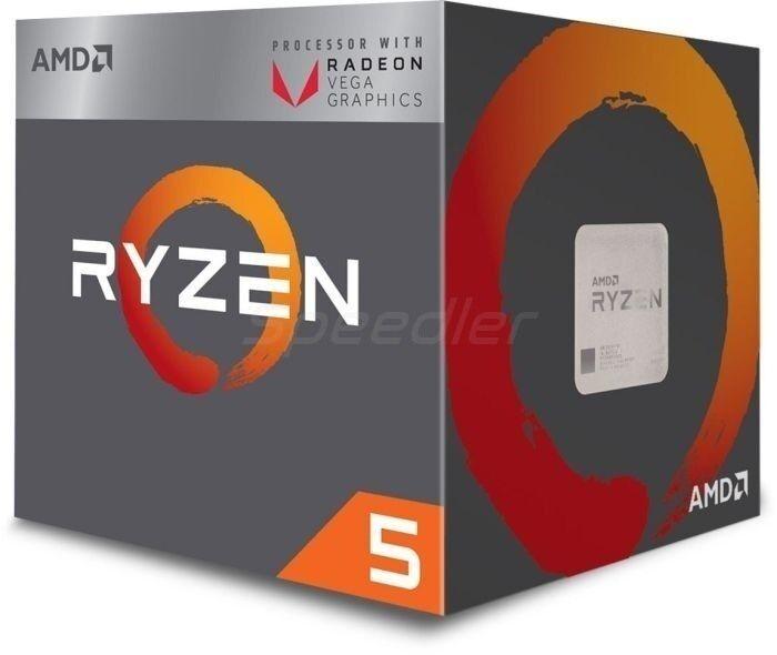 AMD CPU  AM4 RYZEN 5 2400G 4X3.9GHZ/6MB BOX