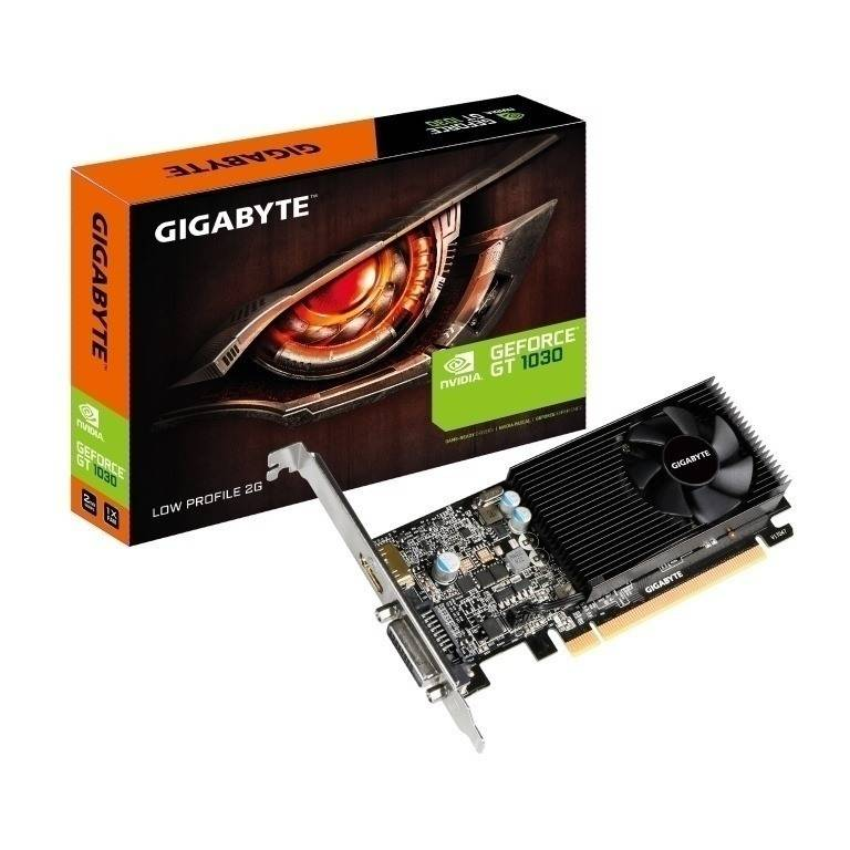 Gigabyte VGA  GV-N1030D5-2GL,NV,GT1030,2GB,GDDR5,64BIT,DVI+HDMI (CON BRACKET LOW PROFILE INCLUIDO)