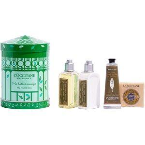 L'Occitane Cuidado Verveine Gift Set Verveine Gel Douche 75 ml + Vereine Body Lotion 75 ml + Verveine Extra-Gentle Soap 50 g + Cooling Hand Cream Gel 30 ml + Music Box 1 Stk.