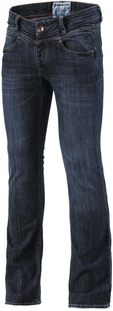 Scott Denim Pantalones vaqueros de las señoras motos Azul 42