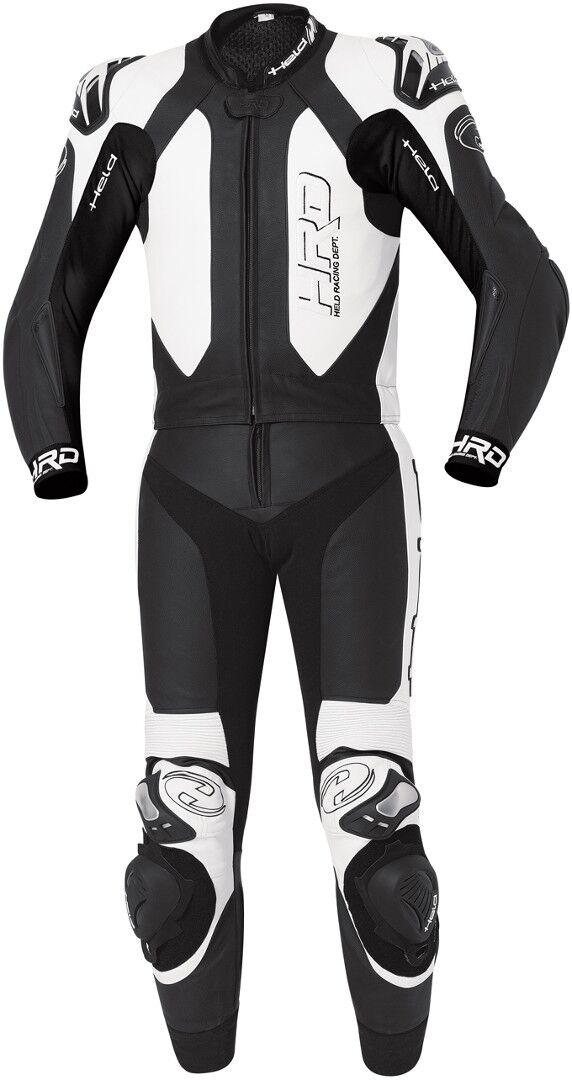 Held Yagusa Two Piece Motorcycle Leather Suit Traje de cuero de mot... Negro Blanco 48