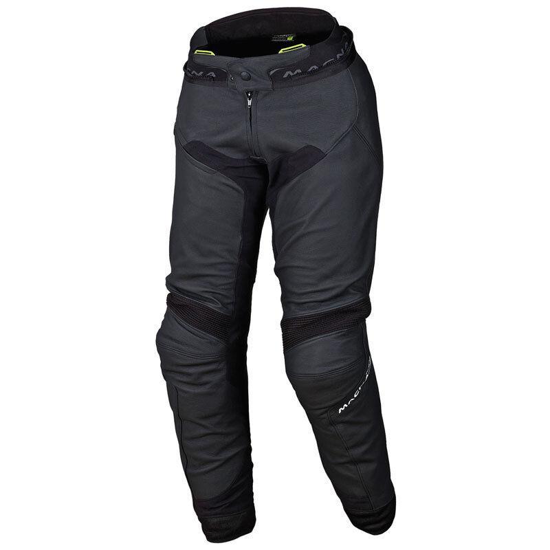Macna Commuter Pantalones de cuero de las señoras motos Negro 42