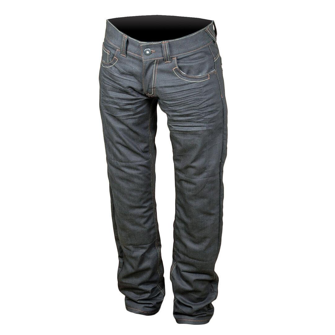 Booster B51 Pantalones vaqueros de las señoras motos Azul 34