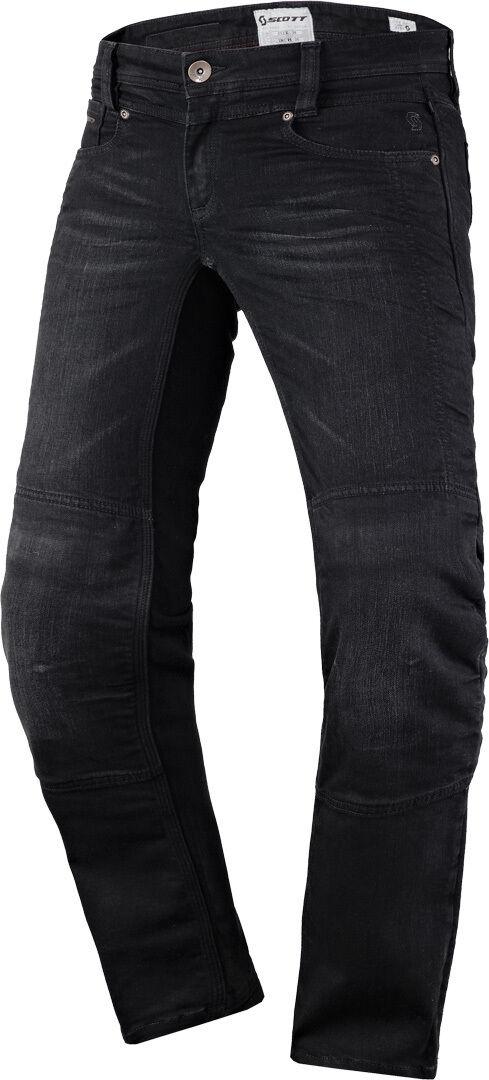 Scott Denim Estirar los pantalones vaqueros de las señoras motos Negro 38