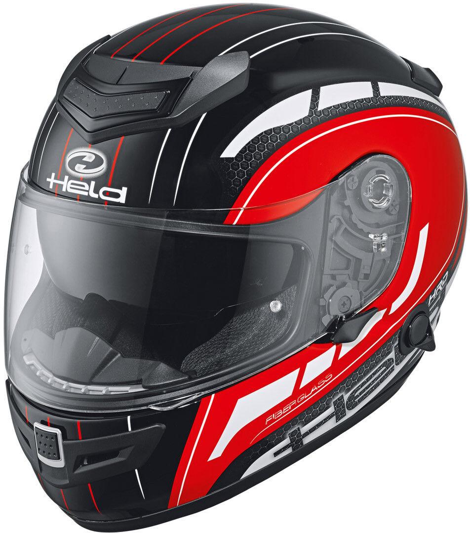Held Brave II Decoración de casco de motos Negro Blanco Rojo 3XL