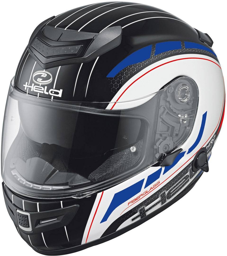 Held Brave II Decoración de casco de motos Blanco Rojo Azul XS