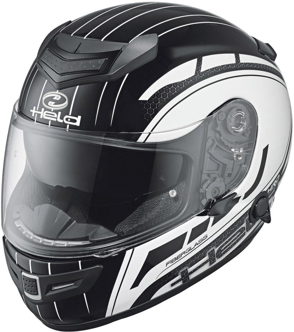 Held Brave II Decoración de casco de motos Negro Blanco M
