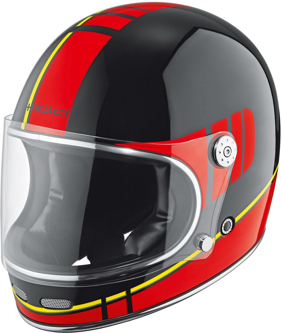 Held Root Decoración de casco de motos Negro Rojo Amarillo M