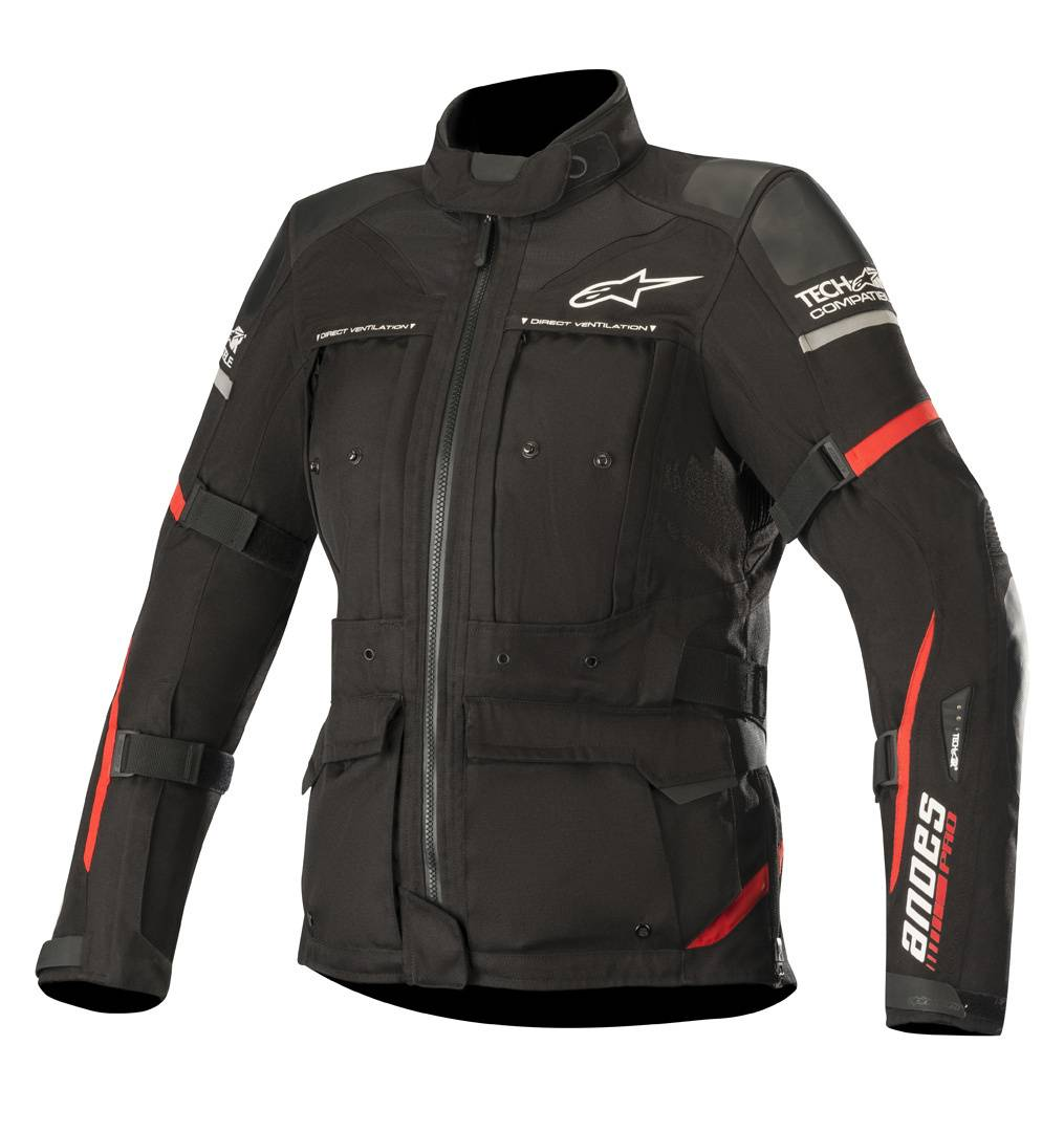 Alpinestars Stella Andes Pro Drystar Tech-Air Las señoras de la mot... Negro Rojo XL