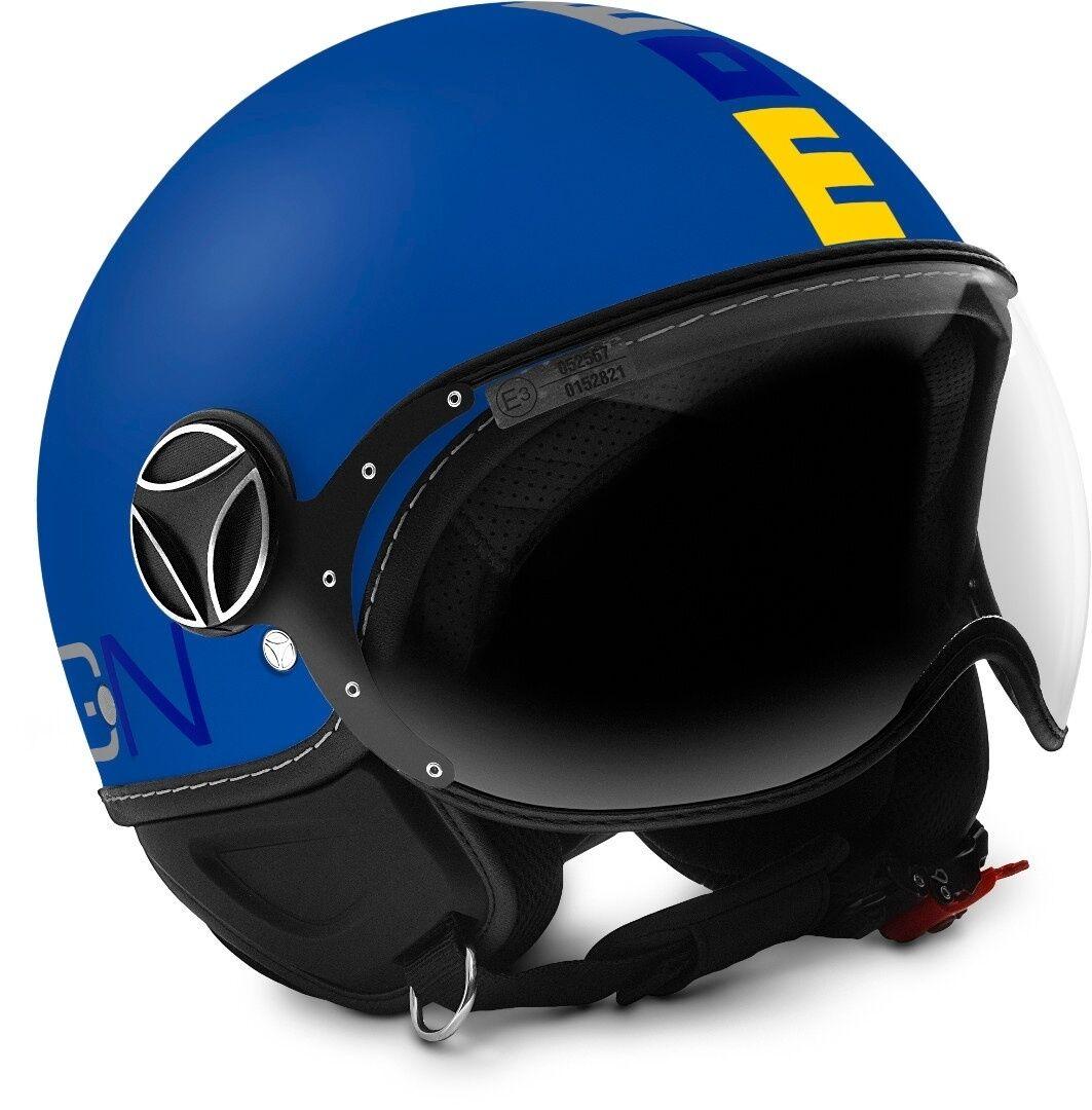 MOMO FGTR Baby Los niños motos casco Azul XS
