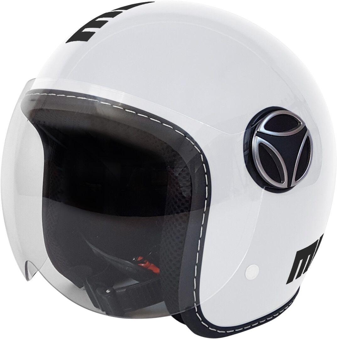 MOMO Baby Los niños motos casco Blanco XS