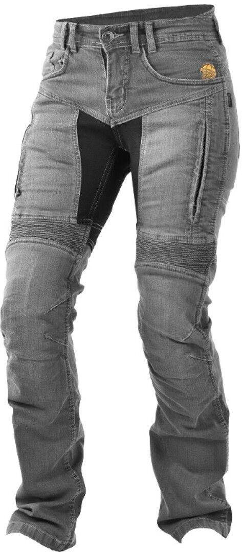 Trilobite 661 Parado Pantalones vaqueros de las señoras motos Gris 30