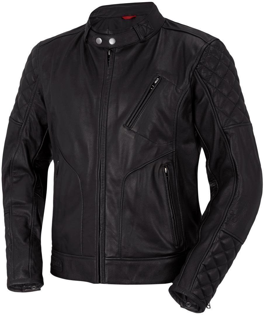 Bogotto Chicago Retro Chaqueta de cuero moto Negro 60