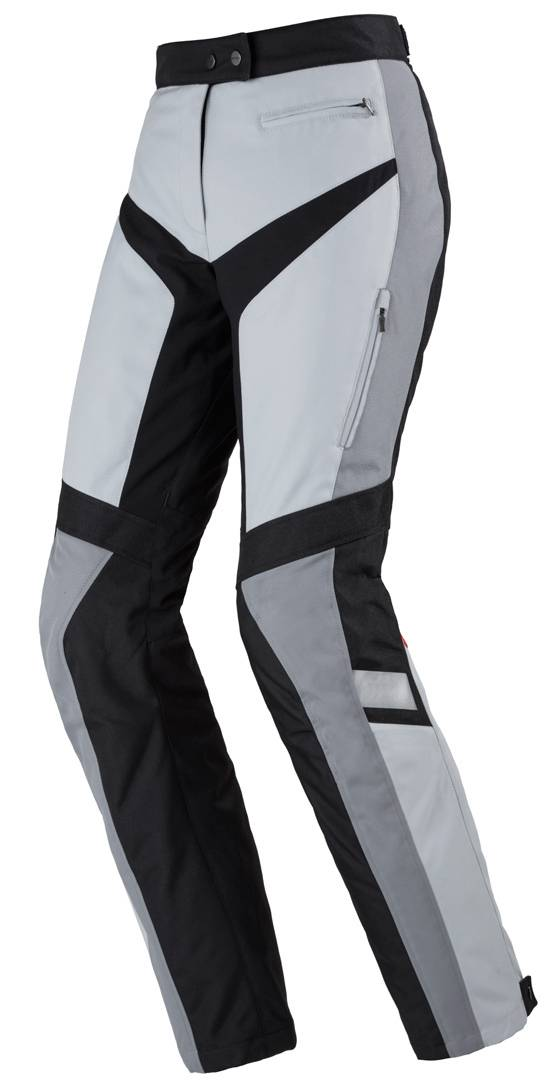 Spidi Traveler 2 Damas pantalones textil de la motocicleta Negro Gris XS