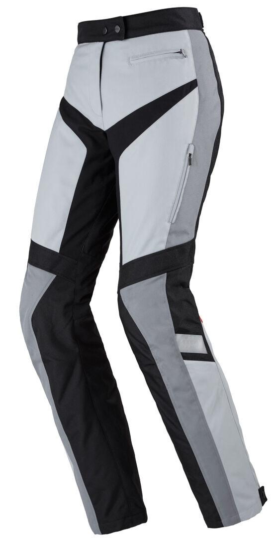 Spidi Traveler 2 Damas pantalones textil de la motocicleta Negro Gris 2XL