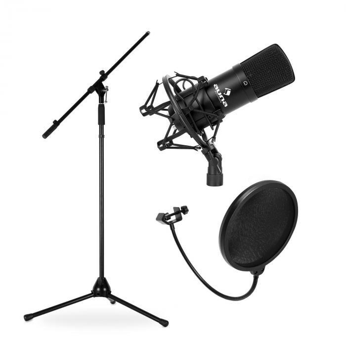 Electronic-Star Set Micrófono de estudio, soporte y protector anti-pop (PL-6514-7884-6237)