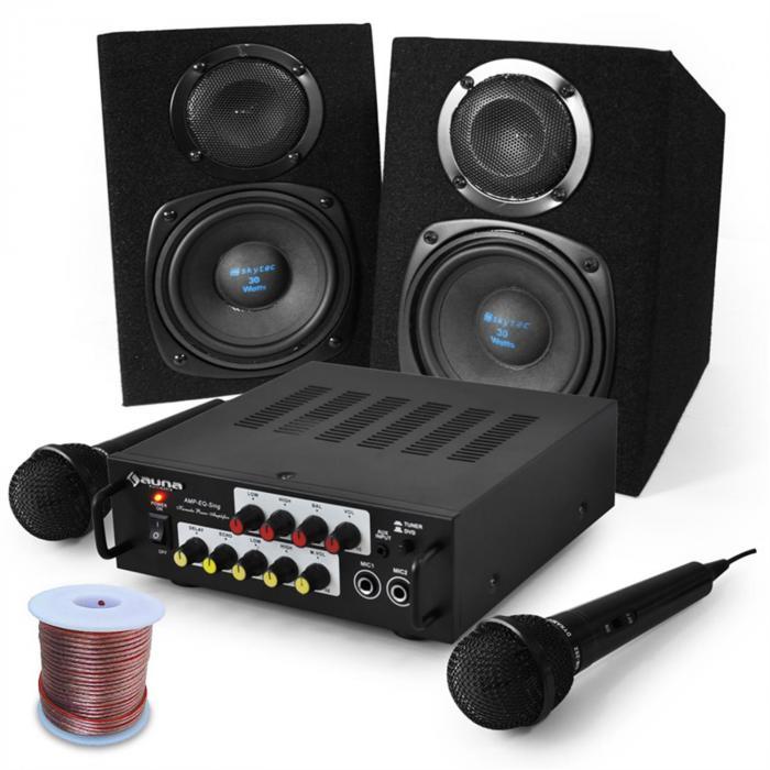 "Electronic-Star Sistema karaoke ""Pony Ranch"", amplis, 2 altavoces y 2 m (PL-3554-2638)"