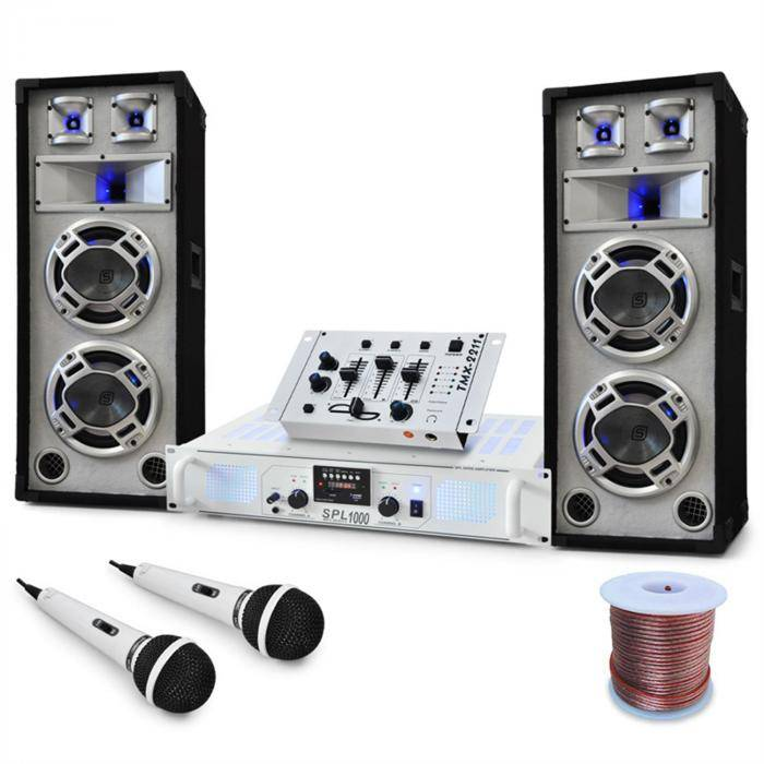 Electronic-Star Equipo DJ PA ''Polar Bear'' Mesa de mezclas Altavoces amplificador 2200W (PL4822-5037)