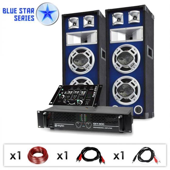 "Electronic-Star Equipo PA DJ ""Beatmix"" de la serie Blue Star - 1200W (BS-Beatmix)"