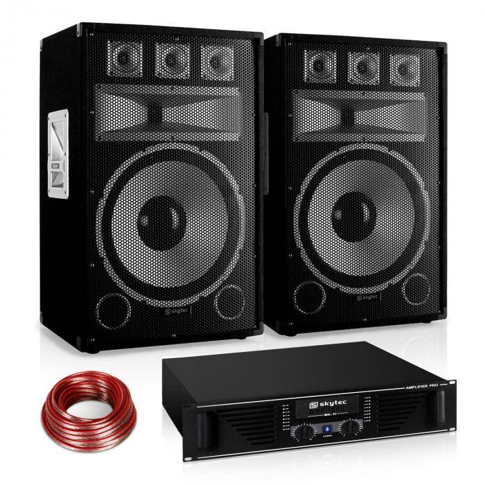 "Electronic-Star ""Warm Up Party"" 15PLUS Set PA serie Saphir 1200W (PL10877-1711-2629)"