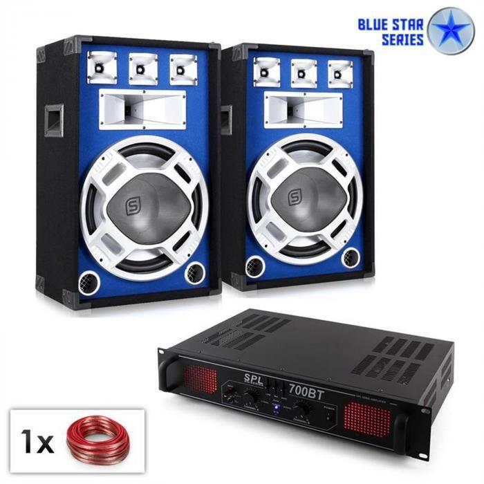 "Electronic-Star PA Set Serie Blue Star ""Basscore Bluetooth"" 1000W (PL-10867-3100)"